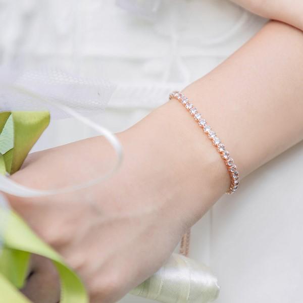 迷幻海洋黃玉/紫水晶純銀手鍊