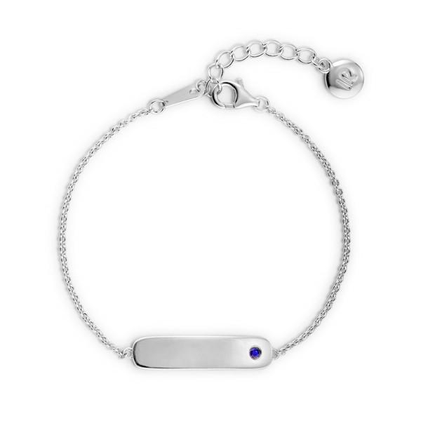 秘密約定-緣因 純銀寶石刻字手鍊/腳鍊