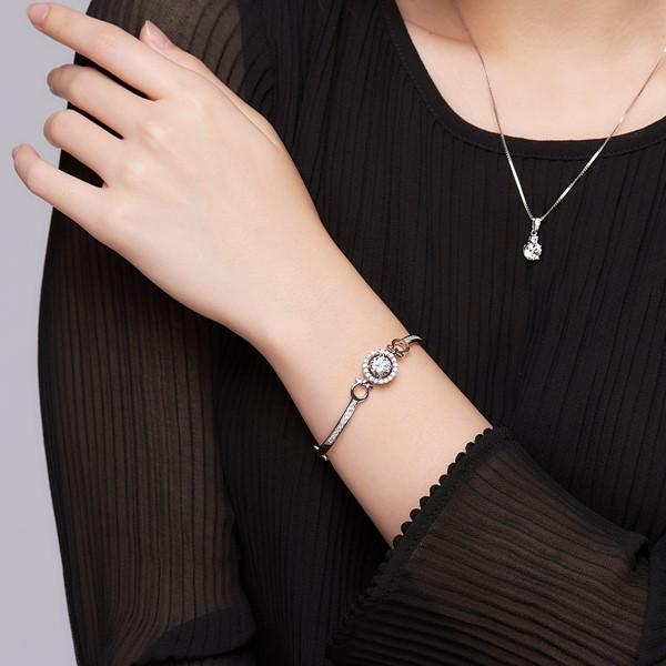 璀鑽饗宴奢華 純銀 女款手環/手鍊飾品