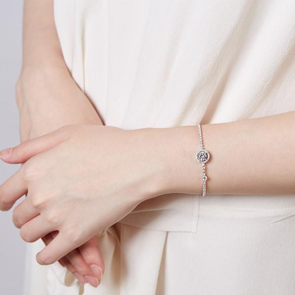 氣質排鑽手鍊  純銀 女款手環/手鍊飾品