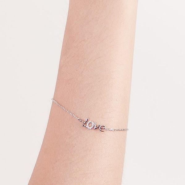 氣質愛戀字母手鍊