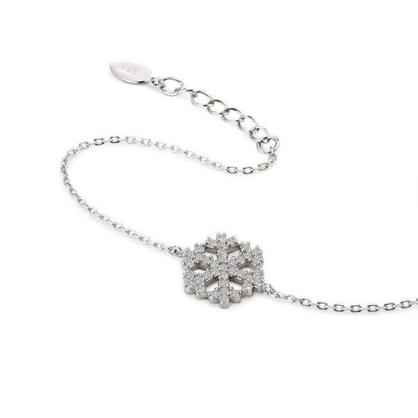 冬季雪花 純銀 女款手環/手鍊飾品