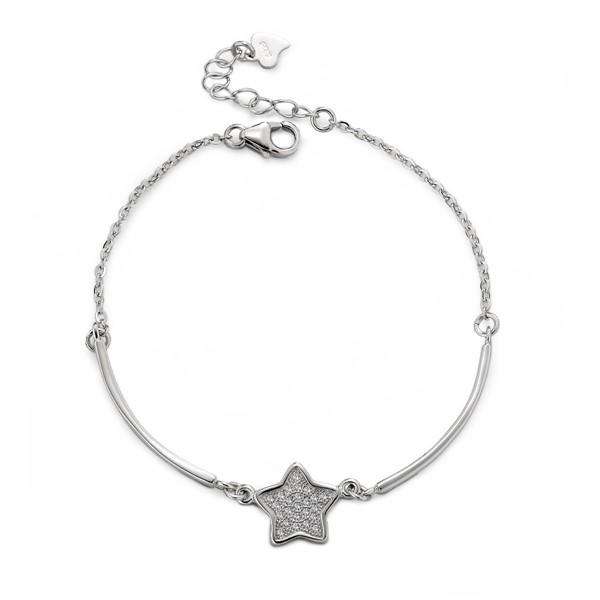 閃亮星星 純銀 女款手環/手鍊飾品