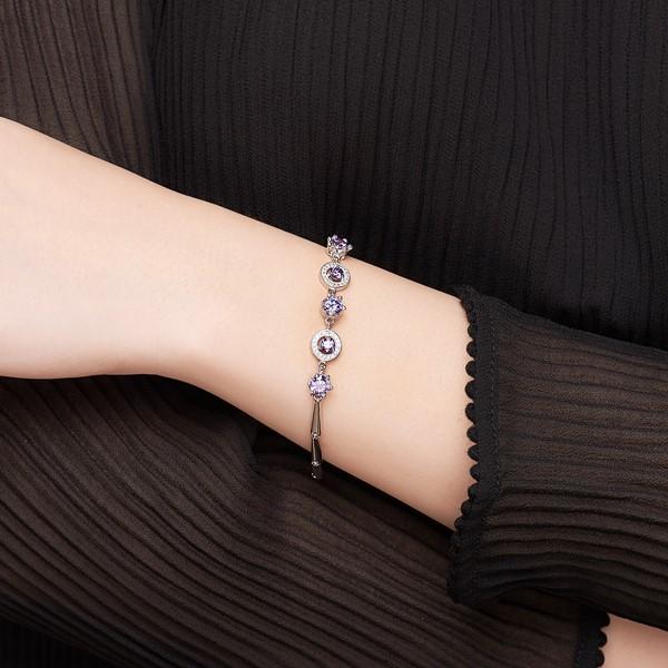 紫光浪漫璀鑽奢華手鍊