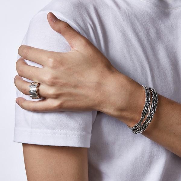 復古圖騰造型硫化手環