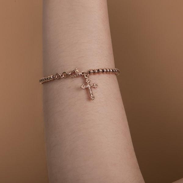 許願十字架串珠手鍊