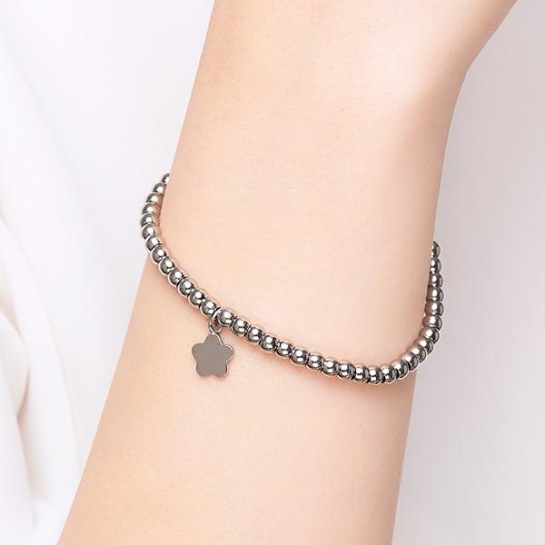 可愛花朵串珠手鍊 西德鋼飾品 伴娘閨密紀念禮物