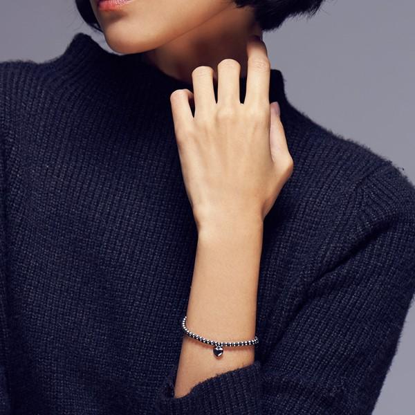 甜美愛心串珠手鍊 西德鋼飾品 伴娘閨密紀念禮物16cm