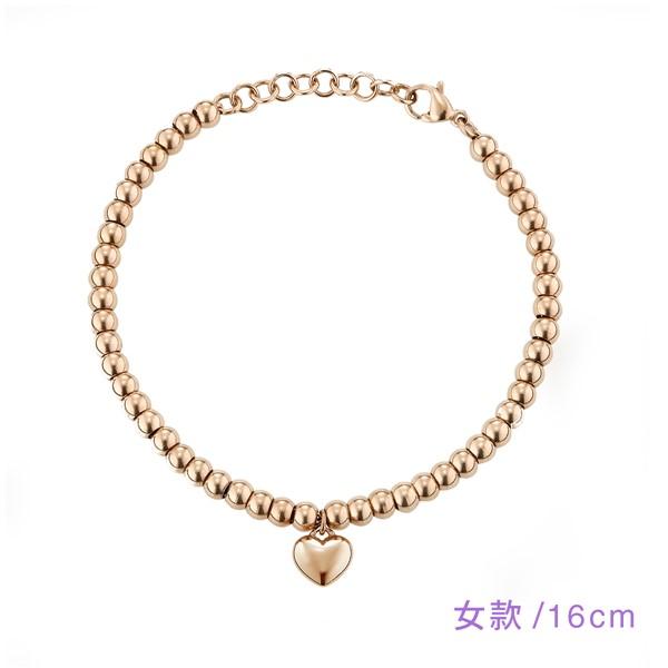 甜美愛心串珠手鍊-女款16cm