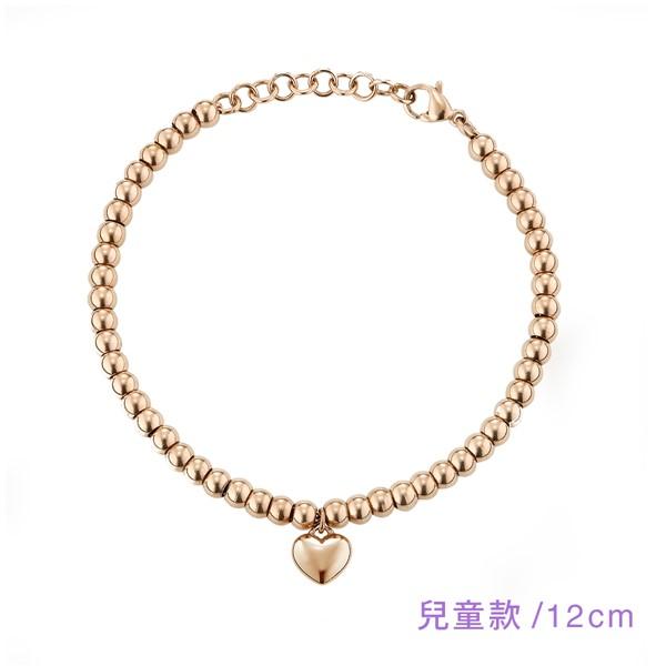 甜美愛心串珠手鍊-兒童款12cm