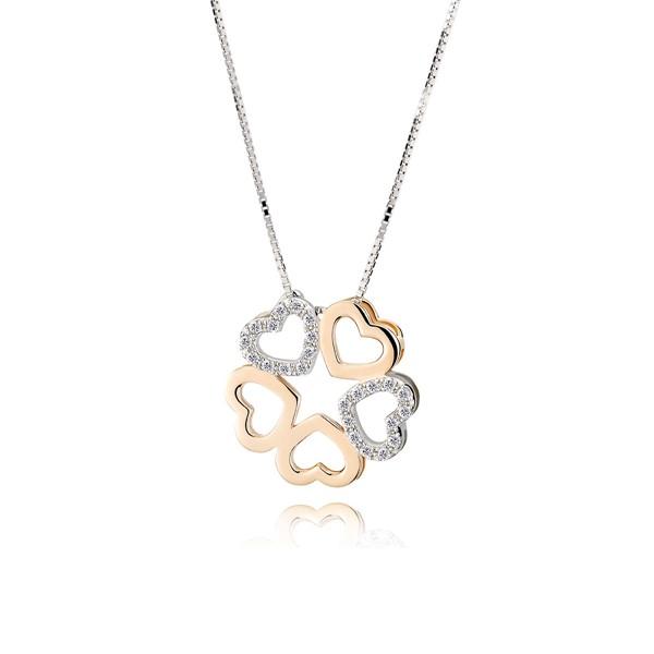 無止盡的愛氣質心型 純銀 女款項鍊飾品