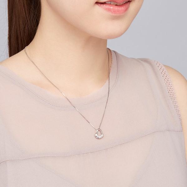 永恆的愛氣質心型 純銀 女款項鍊飾品