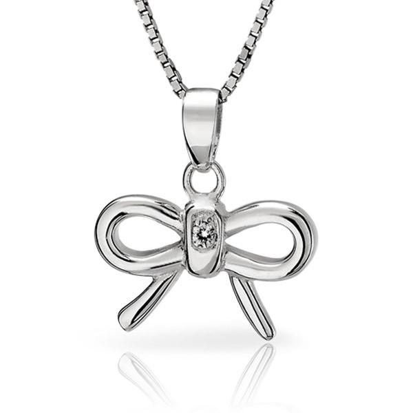 氣質蝴蝶結 純銀 女款項鍊飾品