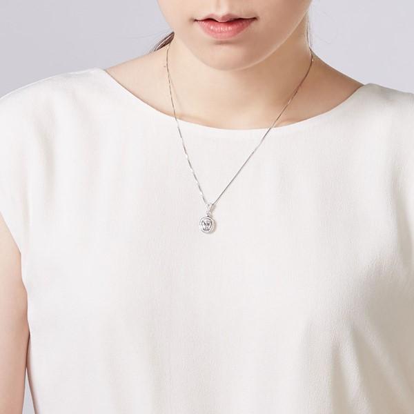 璀鑽奢華立體橢圓 純銀 女款項鍊飾品