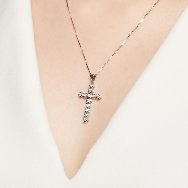 相依滿鑽十字架 純銀 女款項鍊飾品