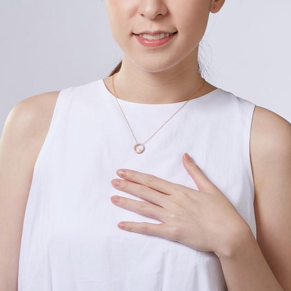 香榭麗舍氣質細緻 純銀 女款項鍊飾品