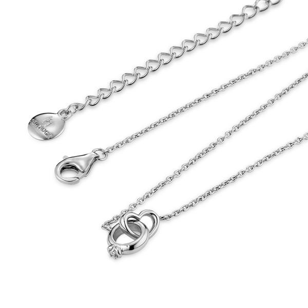 圈住愛氣質細緻 純銀 女款項鍊飾品