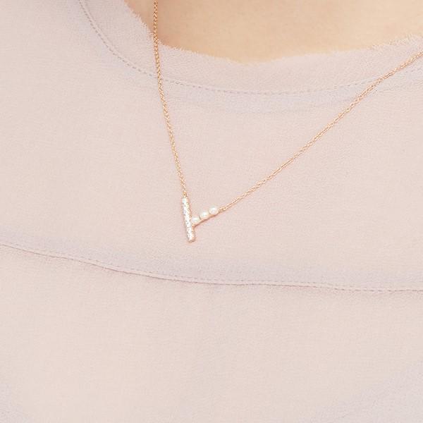 甜美可人滿鑽珠珠項鍊