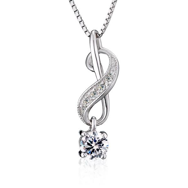 可愛音符造型美鑽項鍊