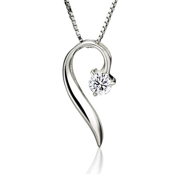 葉子心美鑽 純銀 女款項鍊飾品