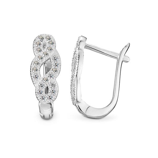 螺旋麻花造型 純銀 女款耳環飾品