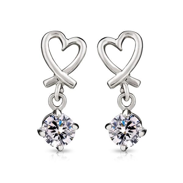 愛戀心語美鑽 純銀 女款耳環飾品