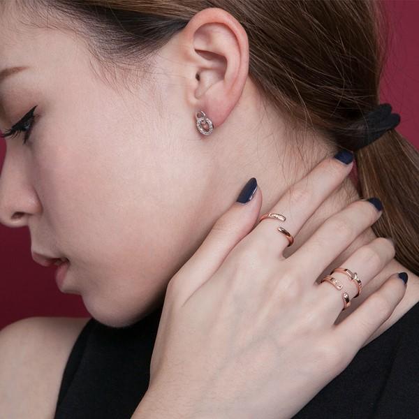 雙圓無限奢華耳環/一對販售