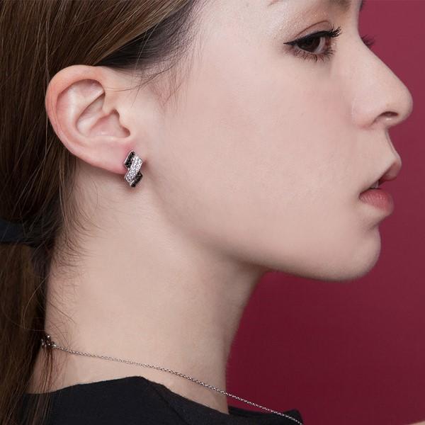 交錯菱形奢華耳環/一對販售