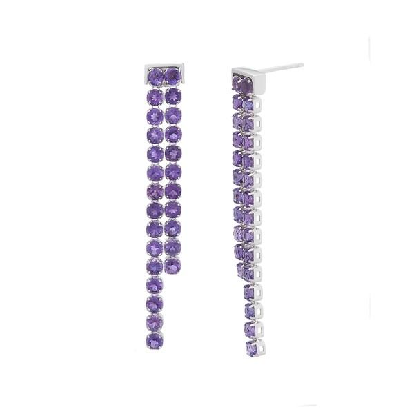 迷幻海洋黃玉/紫水晶純銀耳環
