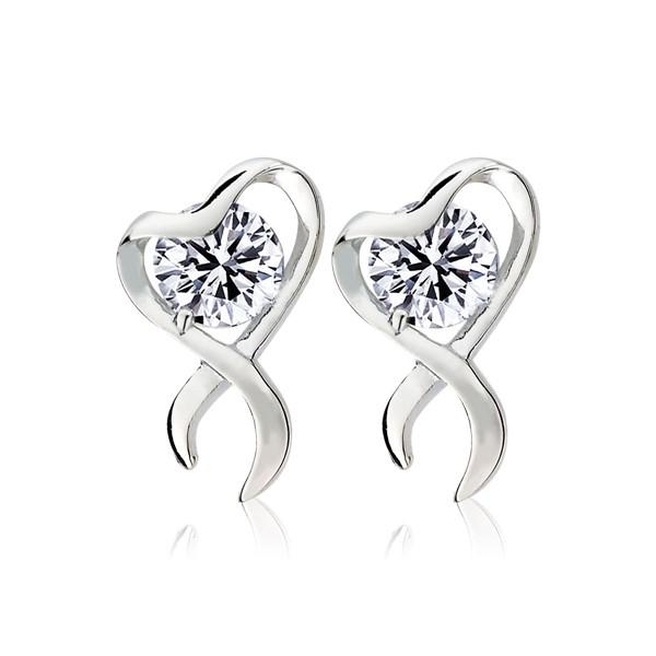 氣質優雅愛心造型耳環/一對販售