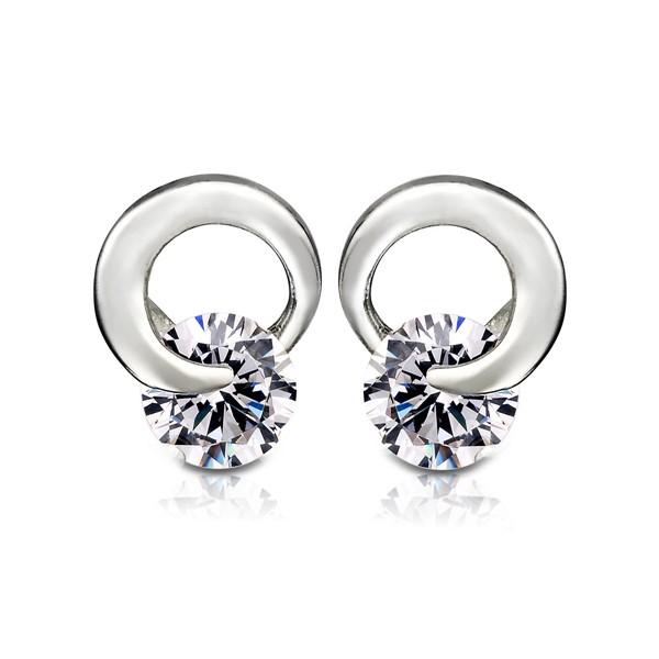 都會女性環繞設計耳環/一對販售