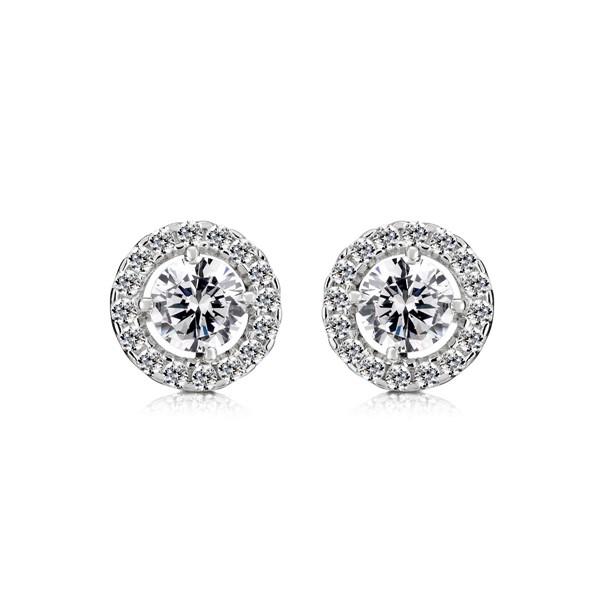 星光眼淚璀鑽系列 純銀 女款耳環飾品
