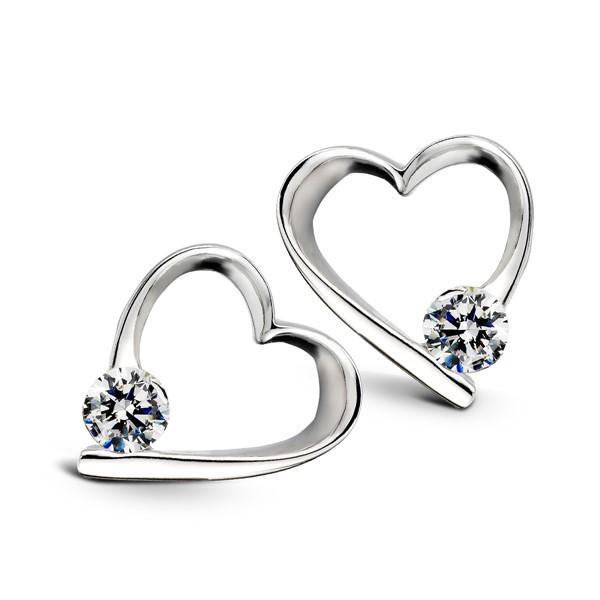 純愛氣質心型耳環/一對販售