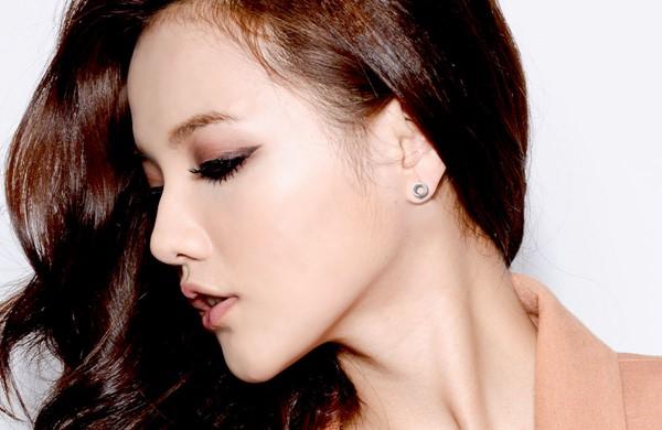 睛鑽圓姊妹 純銀 女款耳環飾品