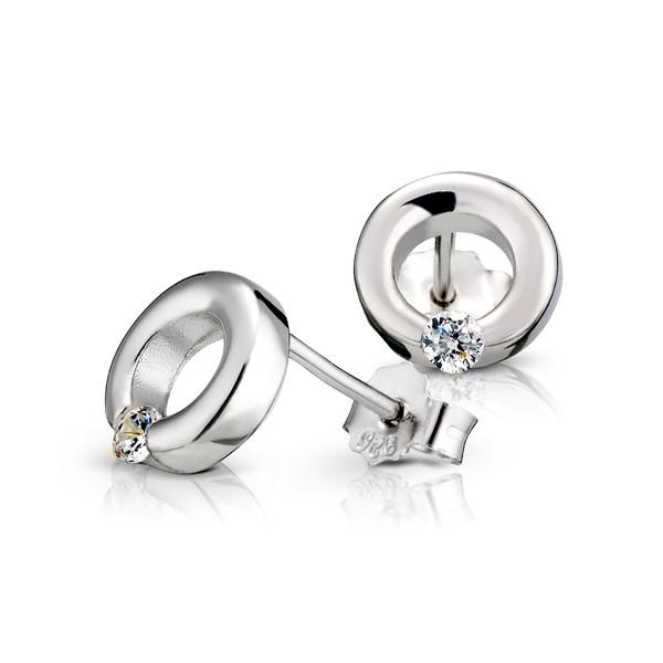 睛鑽圓姊妹耳環/一對販售