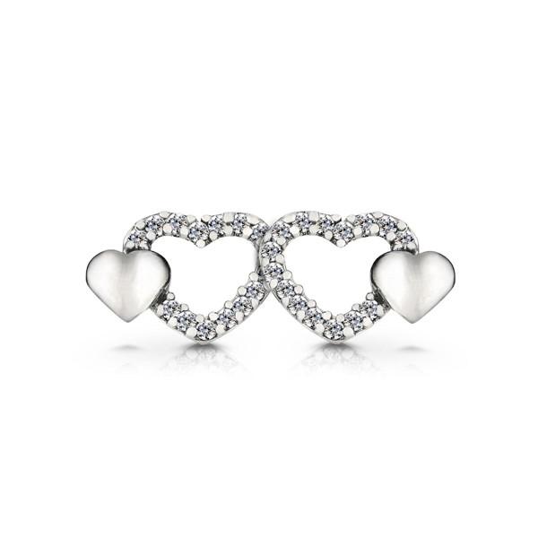 愛情在身邊心型耳環/一對販售