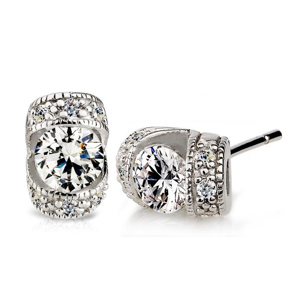 珠寶盒滿鑽 純銀 女款耳環飾品