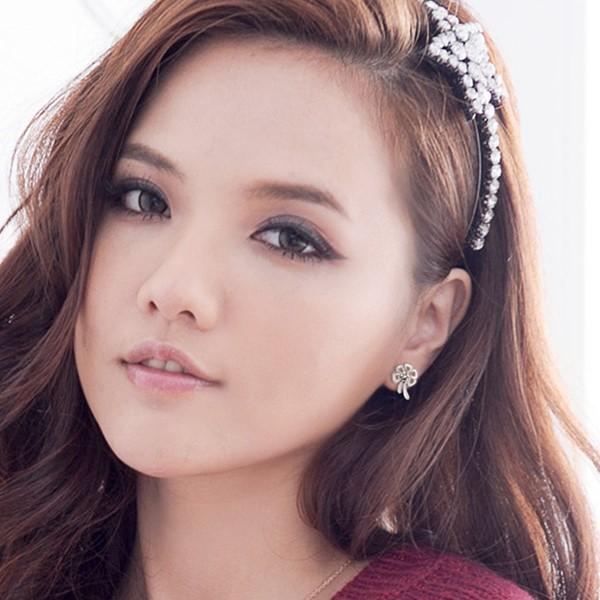 優雅宣言花卉設計 純銀 女款耳環飾品