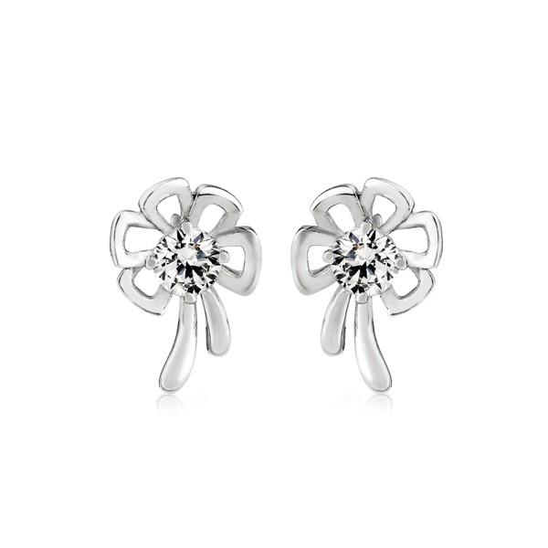優雅宣言花卉設計耳環/一對販售