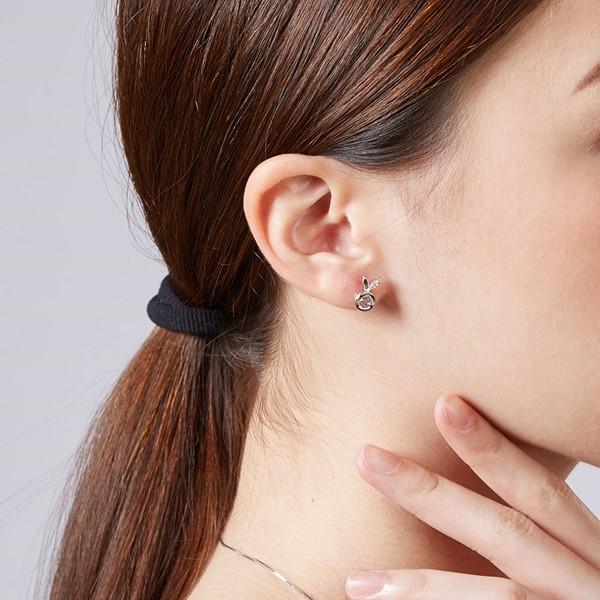 蘋果兔造型耳環/一對販售