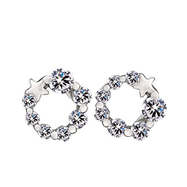 幸福花圈花卉設計耳環/一對販售