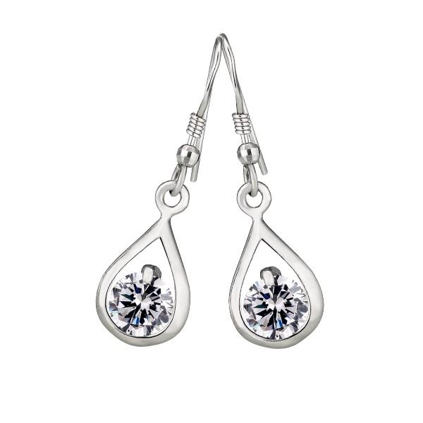 水晶之星璀鑽系列 純銀 女款耳環飾品