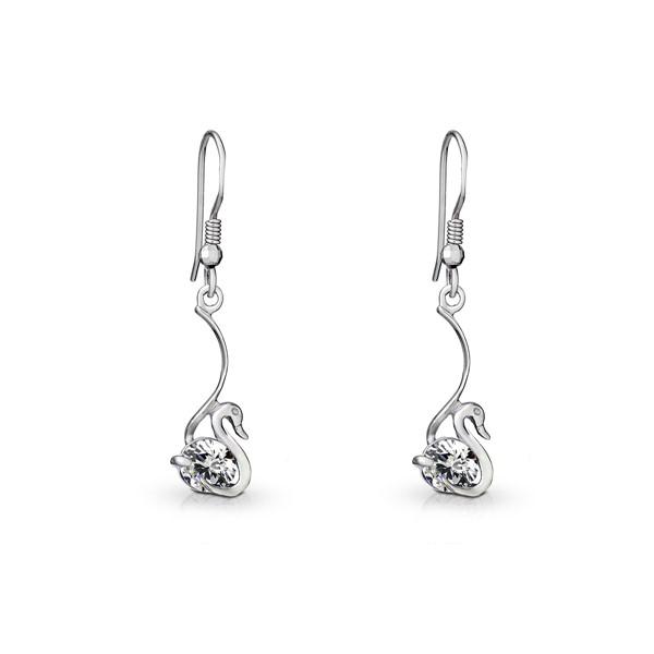 天鵝之歌 純銀 女款耳環飾品