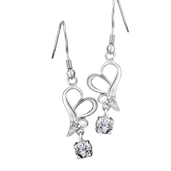 愛心垂釣 純銀 女款耳環飾品