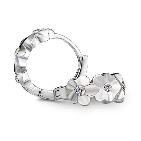童話花卉設計環狀耳環/一對販售