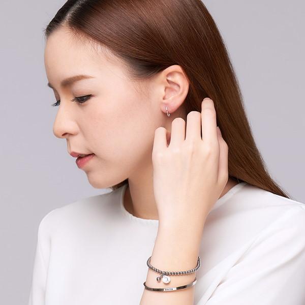 率性單珠造型硫化耳環/一對販售