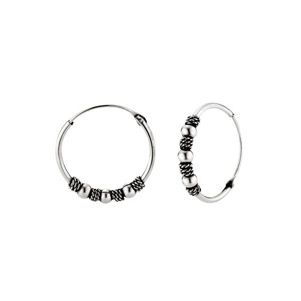 三珠麻花硫化耳環/一對販售