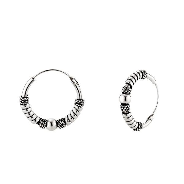 交織單珠麻花硫化耳環/一對販售