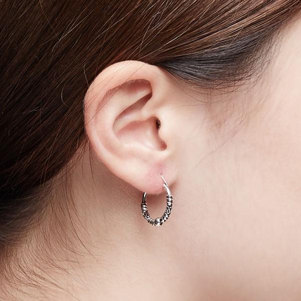個性單珠掐絲硫化耳環/一對販售