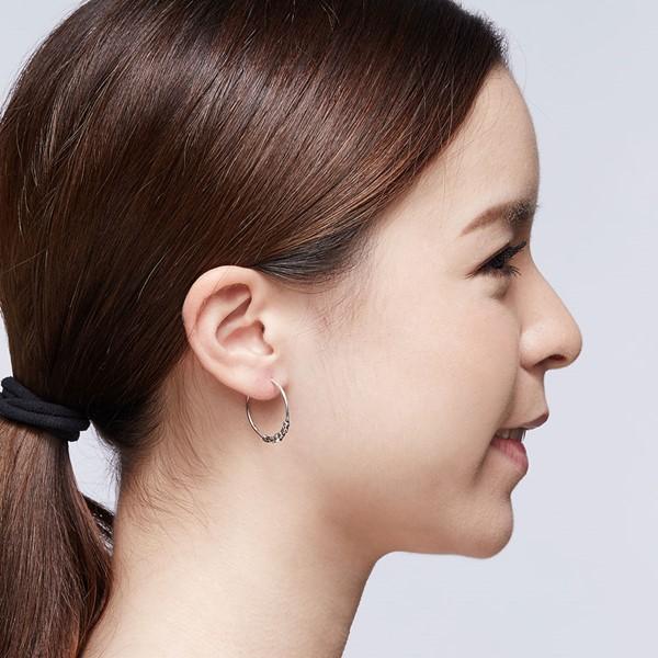 大器單珠掐絲硫化一對販售 純銀 女款耳環飾品